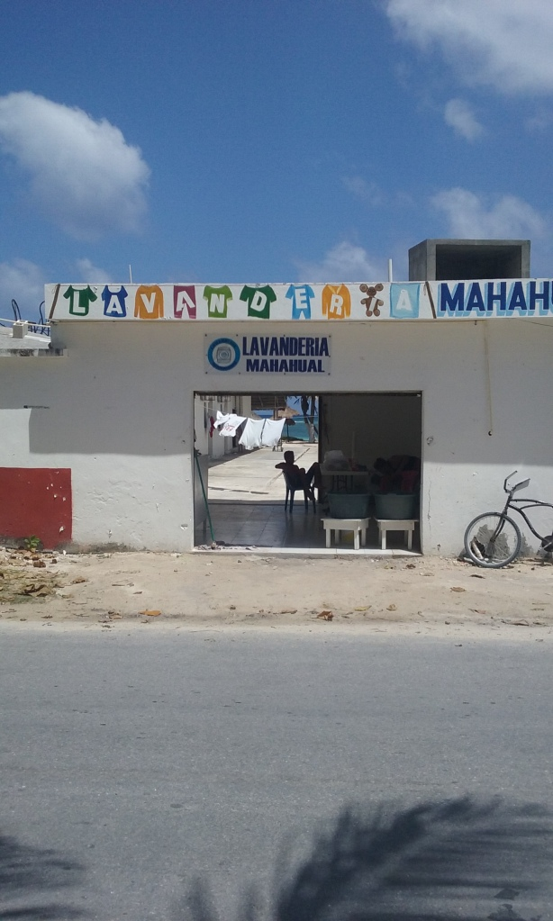 My new laundry place, right off the malecon.