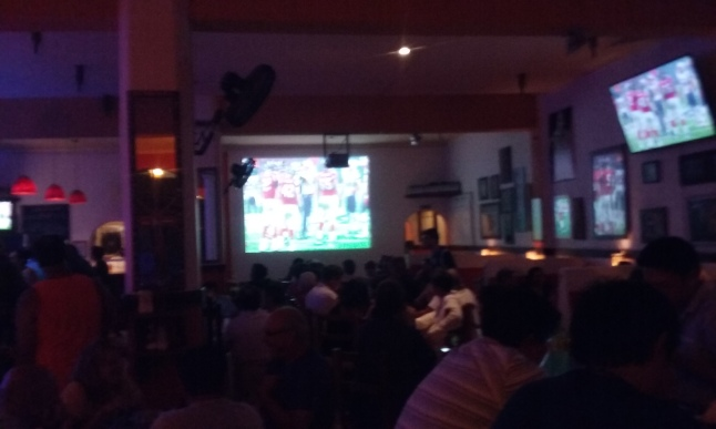Big crowd at Padrino for the Super Bowl.