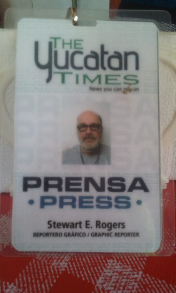 My press card, I am an official member of the Mexican press.  Who would think that a country boy from South Carolina, would end up one day in Mexico being a member of the Fifth Estate in Mexico.