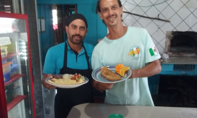 Jose, and the cook Rene, with my breakfast this morning.